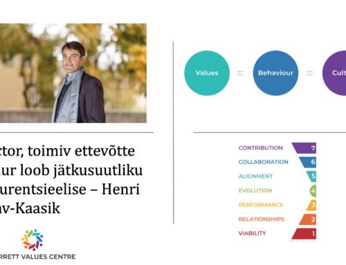 Kogemuslugu – X-Factor, toimiv ettevõtte kultuur loob jätkusuutliku konkurentsieelise – Henri Aaslav-Kaasik, Barret Values Center
